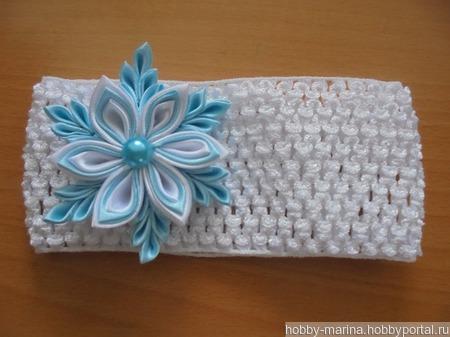 Новогодняя повязка для малышки ручной работы на заказ