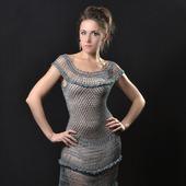 фото: Одежда (вязаное  из  вискозы платье)