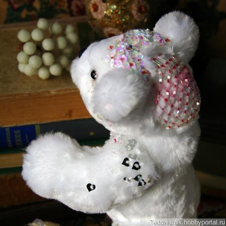 Свадебный мишка ручной работы на заказ