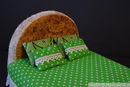 """Постельное белье для Барби """"Зеленая свежесть"""" ручной работы на заказ"""