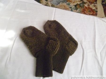Носки женские с добавлением козьего пуха ручной работы на заказ