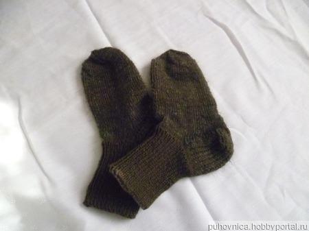 Носки детские с добавлением козьего пуха ручной работы на заказ