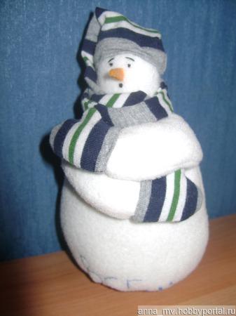 Снеговичок-мерзлячок ручной работы на заказ