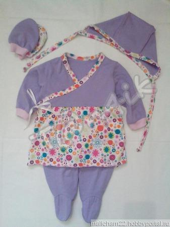 """Комплект для новорожденной девочки """"Божьи коровки"""" ручной работы на заказ"""
