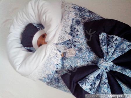"""Комплект для новорожденного """"Снежок"""" ручной работы на заказ"""