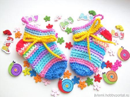 Носочки на малыша 0-3 месяца ручной работы на заказ