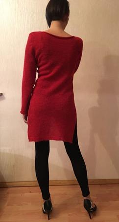 Пуловер с удлинённой спинкой ручной работы на заказ