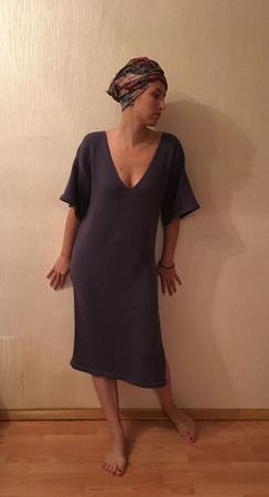 Свободное платье oversize ручной работы на заказ