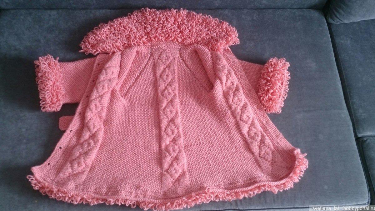 вязаное пальто для девочки купить в интернет магазине Hobbyportal