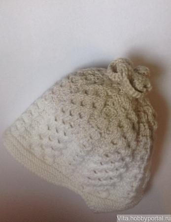 Тёплая Шапочка Сашенька ручной работы на заказ