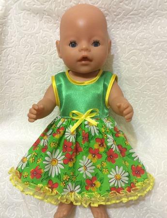 """Платье  для беби борн """"Весна"""" ручной работы на заказ"""