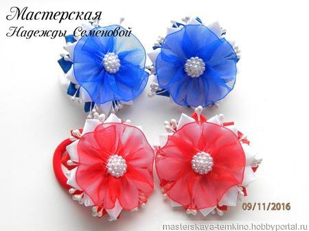 Нежные резиночки с цветочками ручной работы на заказ
