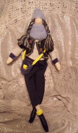 Тильда девушка с сумочкой ручной работы на заказ