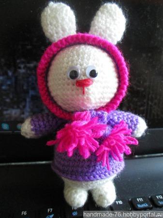Зайчонок в капюшоне ручной работы на заказ
