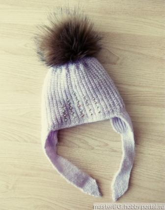 Детская шапка на холодную весну/осень ручной работы на заказ