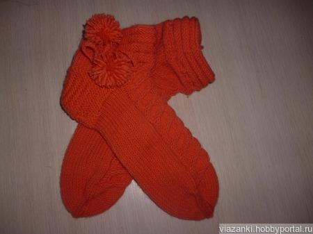 Носочки теплые ручной работы на заказ