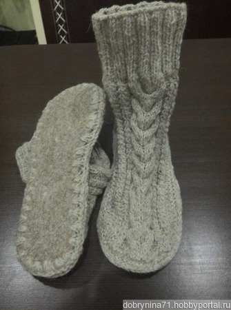Носки на войлочной подошве ручной работы на заказ