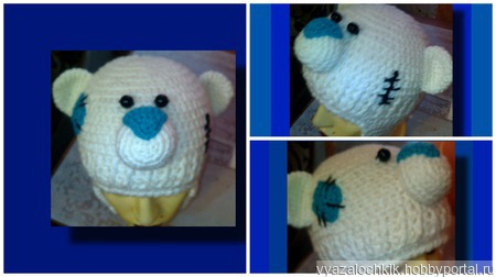 Шапка-медвежонок ручной работы на заказ