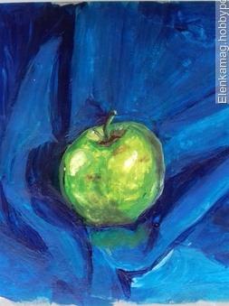 Зеленое яблоко ручной работы на заказ