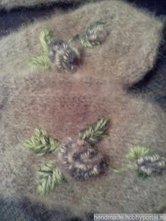 Варежки из собачей шерсти ручной работы на заказ