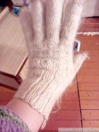 Перчатки вязанные ручной работы на заказ