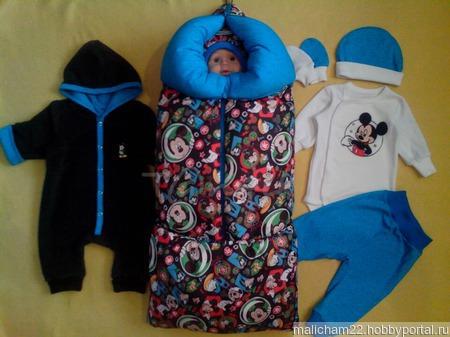 """Комплект для новорожденного """"Микки"""" ручной работы на заказ"""