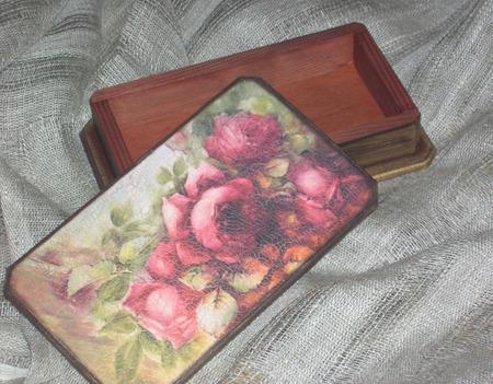 Шкатулка-купюрница Осенний букет ручной работы на заказ