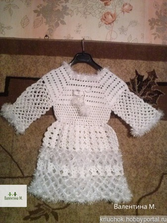 """Платье """"снежинка"""" вязаное крючком ручной работы на заказ"""