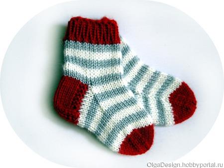 Носочки в полоску ручной работы на заказ
