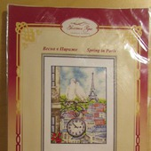 """Набор для вышивания крестом """"Весна в Париже"""""""