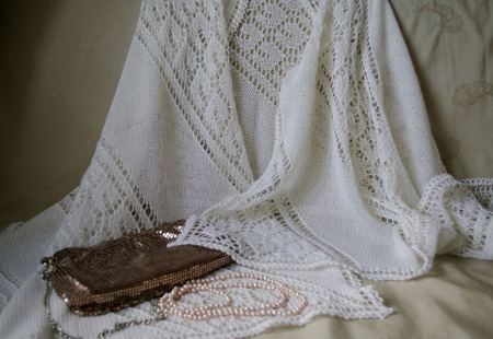 """Палантин """"Жемчужина"""" из перуанской альпаки ручной работы на заказ"""
