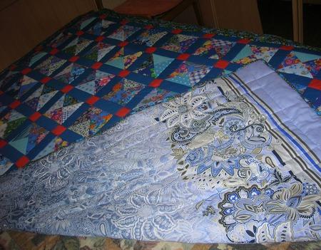 Лоскутное покрывало Василек ручной работы на заказ