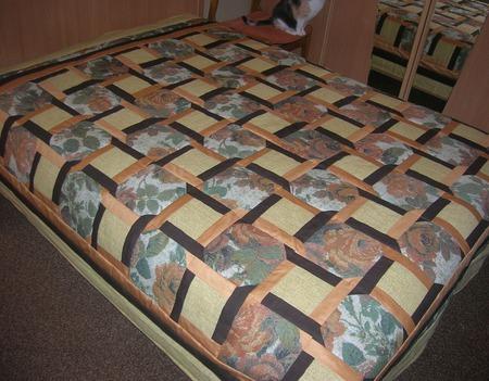 Лоскутное покрывало Тепло дома ручной работы на заказ