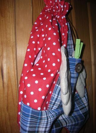 Гусь пакетница в штанишках ручной работы на заказ