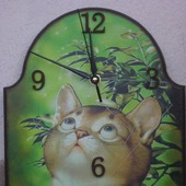 Настенные часы Кот и паутина