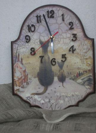"""Часы """"Первая зима"""" ручной работы на заказ"""
