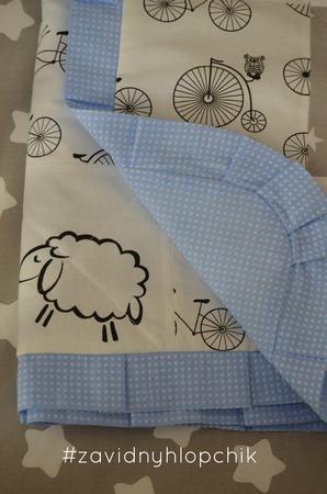 Детское лоскутное одеялко ручной работы на заказ