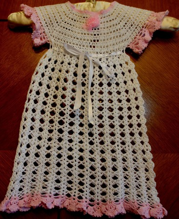 Платье крестильное для девочки ручной работы на заказ