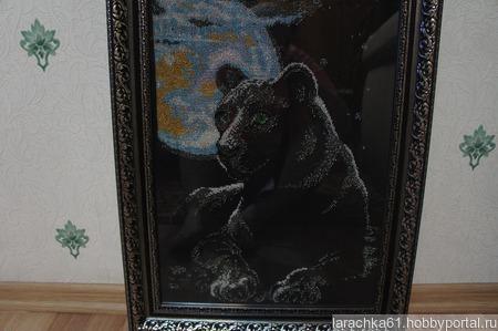 """Картина """"Лунная пантера"""" ручной работы на заказ"""
