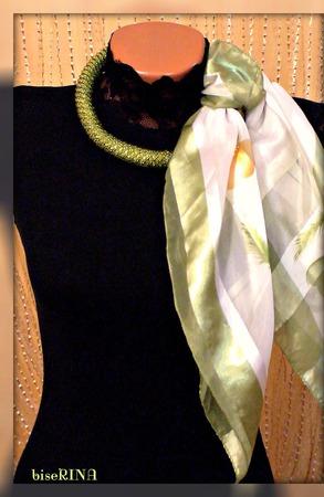 Ажурный жгут с платком ручной работы на заказ