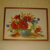 фото: Картины и панно: картины цветов (атласная лета)