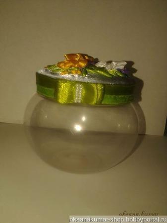 Баночка-шкатулка  под разные мелочи ручной работы на заказ