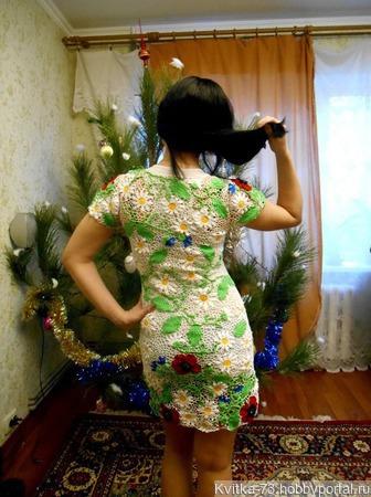 """Платье """"Цветочная поляна"""" ручной работы на заказ"""