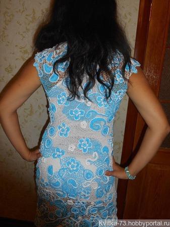 """Платье """"Голубая бирюза"""" ручной работы на заказ"""