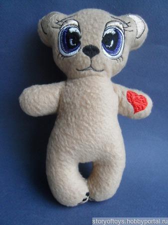 Мишка с сердечком ручной работы на заказ