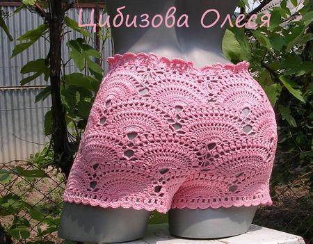 Вязаные пляжные шортики ручной работы на заказ