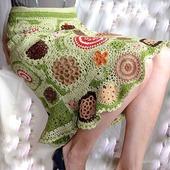 "Юбка вязаная ""Мхи Исландии""  Фриформ freeform crochet dress"