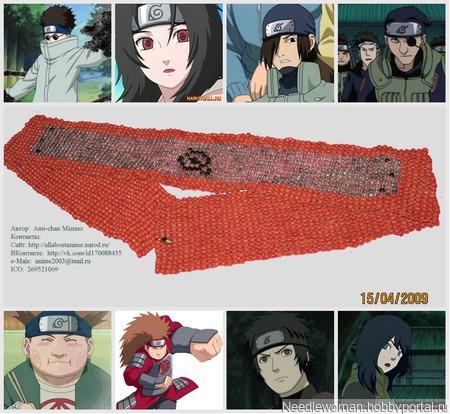 """Бандана из одноимённого аниме """"Naruto"""" ручной работы на заказ"""
