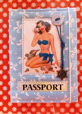 """Обложка на паспорт """"На море"""" ручной работы на заказ"""