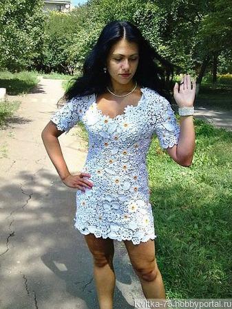 """Платье """"Ромашки"""" ручной работы на заказ"""